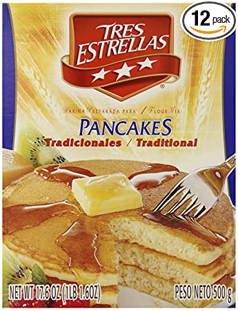 Tres Estrellas Traditional Hot Cakes Mix, 17.6 Ounce (Pack of 12)