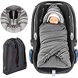 Universal Einschlagdecke für Babyschale & Maxi Cosi - praktische Alternative zum Winter- Fußsack, weiches und wattiertes Thermo Fleece