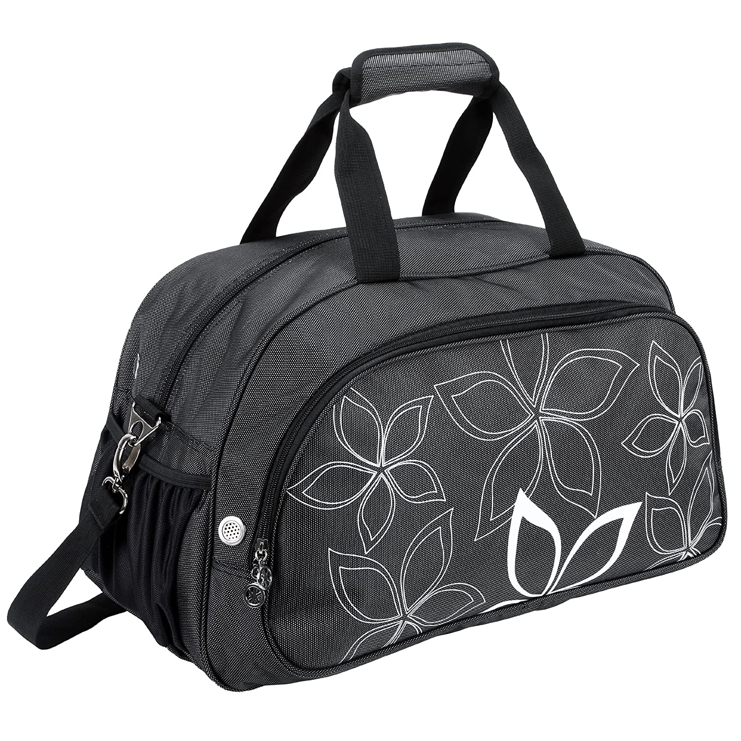 20 Fashionable Flowers Pattern Sports Gym Tote Bag Travel Carryon MyGift BBP1122SSFRED