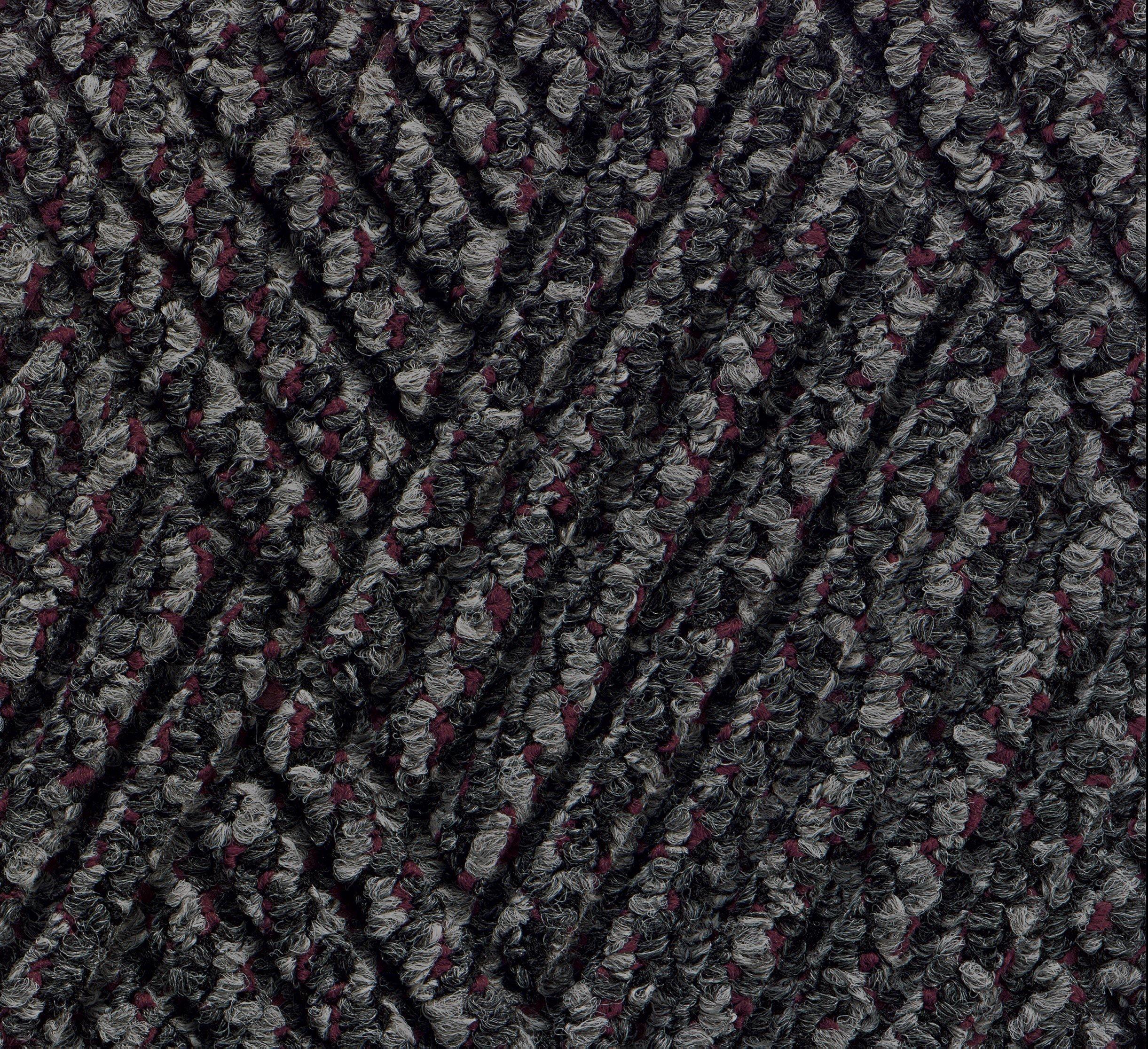 Andersen 296 Waterhog DiamondCord Polypropylene Fiber Interior/Scraper Wiper Floor Mat, SBR Rubber Backing, 10' Length x 3' Width, 3/8'' Thick, Grey Cord