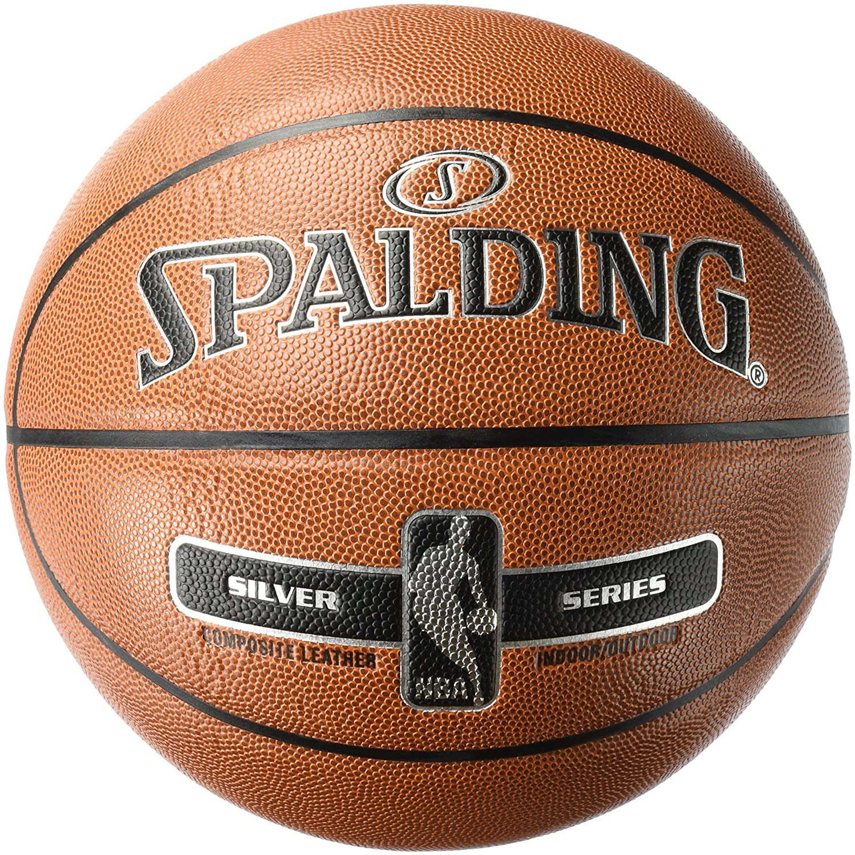 Spalding NBAシルバーインドア/アウトドアバスケットボール – サイズ7 – オレンジ – サイズ7 B06X19B896