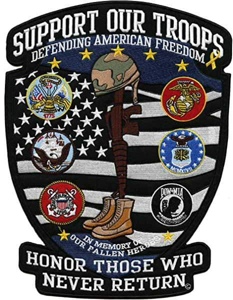 Set of 8 Cards Support Our Troops