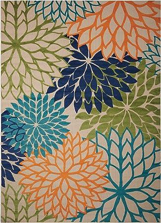 Nourison Aloha (ALH05) Multicolor Rectangle Area Rug, 5 Feet 3 Inches