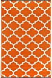 Fab HabTangier- Tappeto da interno o esterno, Carrot & White, 120 x 180 cm