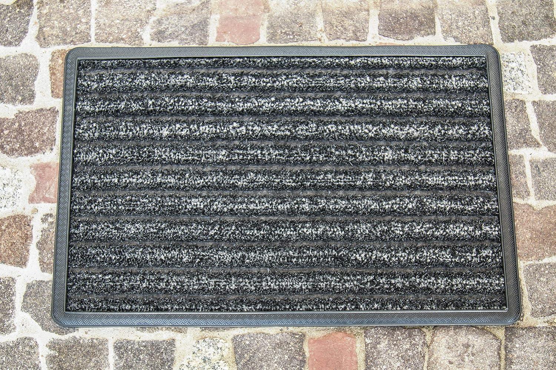 Carpet Diem Scratch/&SOAK Tapis anti-poussi/ère avec fibre /à gratter fibre daspiration et bord et rainures anti-poussi/ère Paillasson int/érieur et ext/érieur gris anthracite