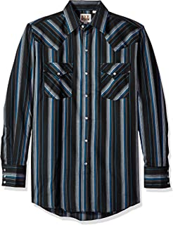 adff560985d66 Panhandle Men s Slim Long Sleeve Print Button Down Shirt Black Small ...