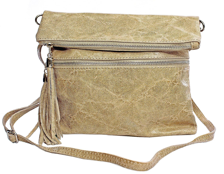 42cb00719613b Echt Leder Tasche Ledertasche Umhängetasche Schultertasche Clutschtasche  (beige)  Amazon.de  Koffer