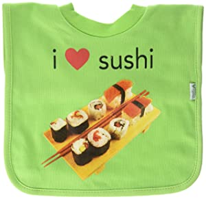 green sprouts Pull-Over Food Bib |Convenient stay-put protection | Absorbent cotton, Wide-coverage, Machine washable