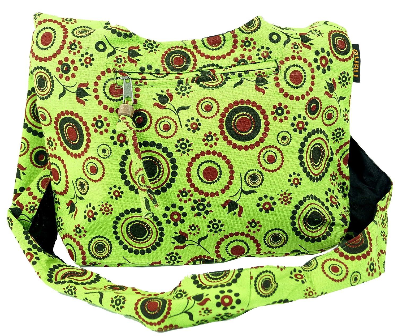 Unisex Algod/ón 20x30x10 cm Shopper GURU-SHOP Bolso Sadhu Bolsas Hippie Adultos Bolsas Sadhu Lim/ón Bolso de Hombro Peque/ño
