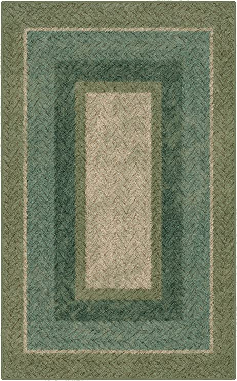Brumlow Mills Ew10153 30x46 Green Braided Printed Area Rug 2 6 X 3 10 Amazon Ca Home Kitchen