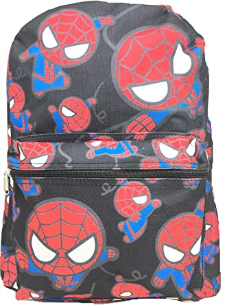 d087d3331bd1 Image Unavailable. Image not available for. Color  Marvel Spiderman Allover  Print Black 16 quot  Boys Large School Backpack