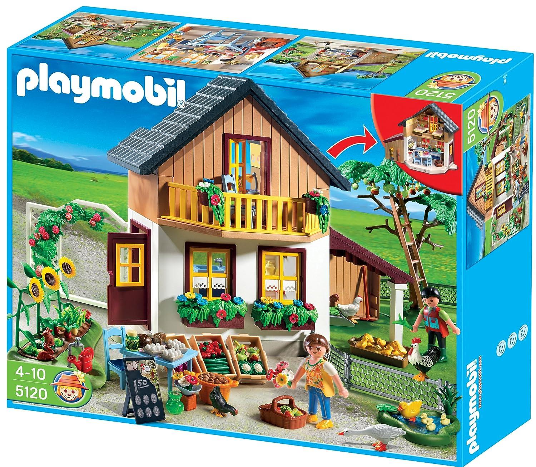 Amazon.com: PLAYMOBIL Farm House with Market: Toys  for Farmhouse Playmobil  110yll