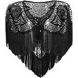 BABEYOND 1920s Shawl Wraps Gatsby Beaded Evening Cape Bridal Shawl for Evening Dresses Wedding Party