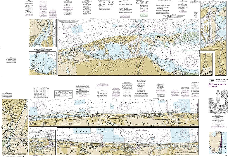 Amazon Com Noaa Chart 11467 Intracoastal Waterway West Palm Beach
