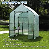 """Deluxe Green House 56"""" W x 56"""" D x 77"""" H,Walk In Outdoor Plant Gardening Greenhouse,3 Tiers 6 Shelves (56"""" W x 56"""" D x 77"""" H)"""