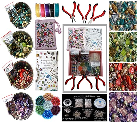 b3610225affc Pinze e perline per creare gioielli, Set per principianti: Amazon.it ...