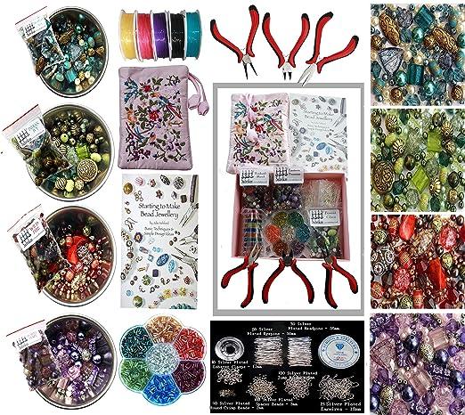 11 opinioni per Set per creare gioielli per adulti, pinze e un ampio assortimento di perline,