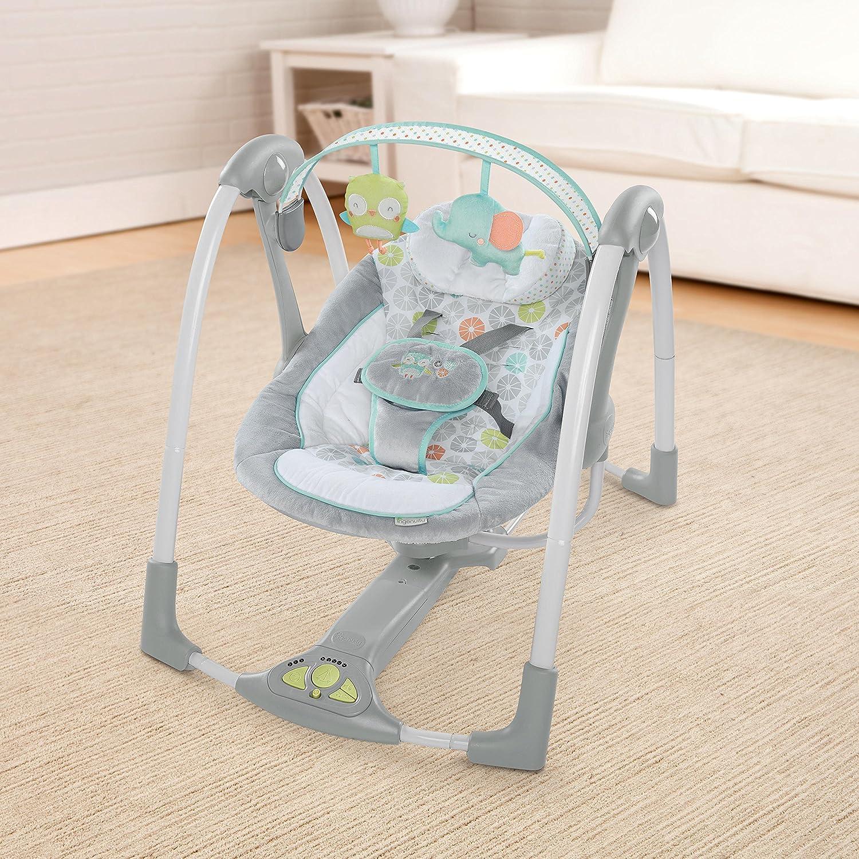 Ingenuity Swing n Go Portable Baby Swings Hugs /& Hoots