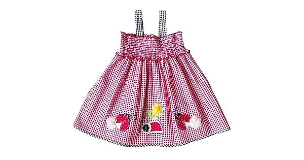 888d8eedb968c Good Lad Infant Girls Red Seersucker Smocked Sundress with Lady Bug Applique