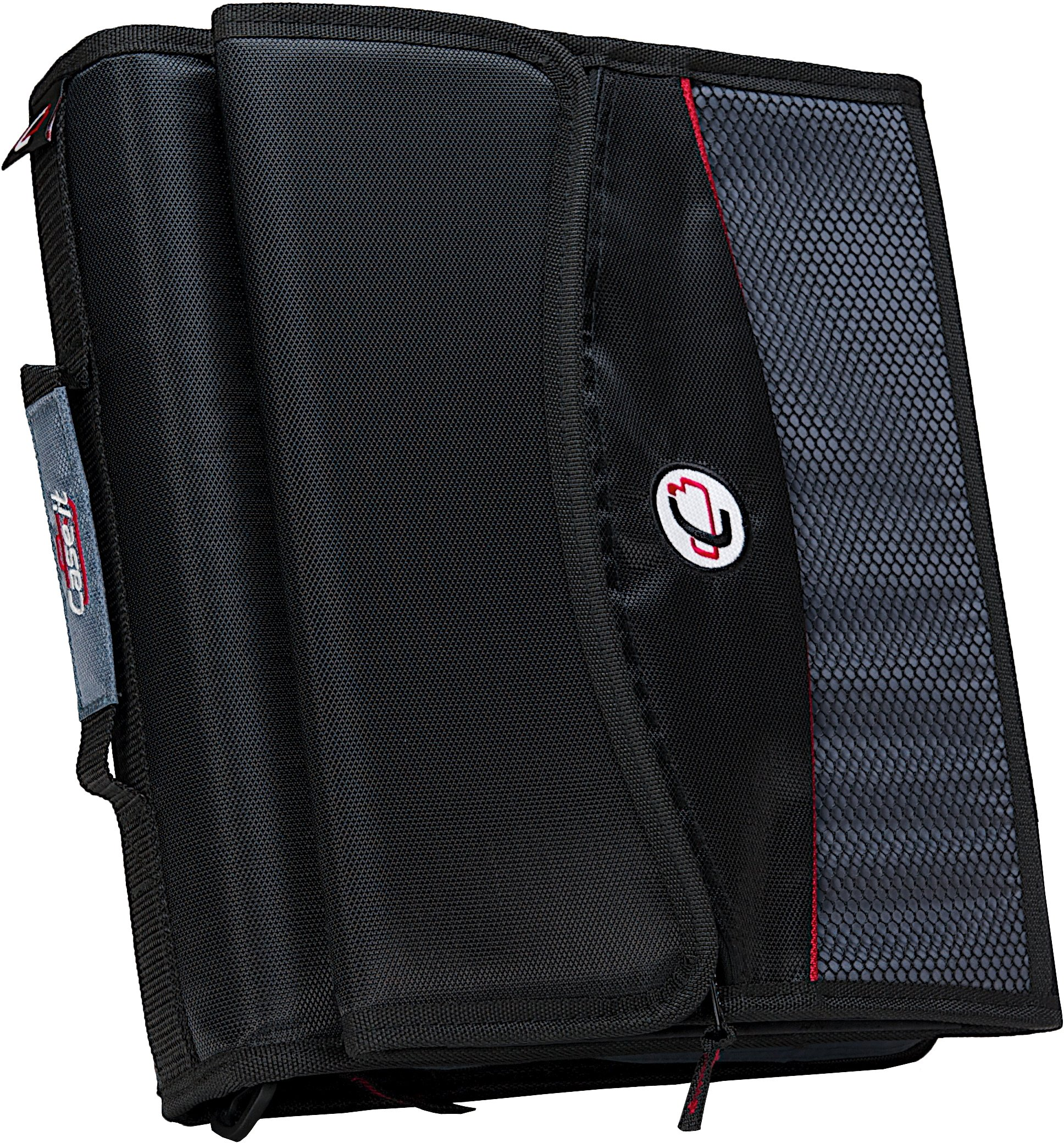 Case-it 2-Inch O-Ring Zipper Binder with Removable Tab File, Black, D-901-BLK