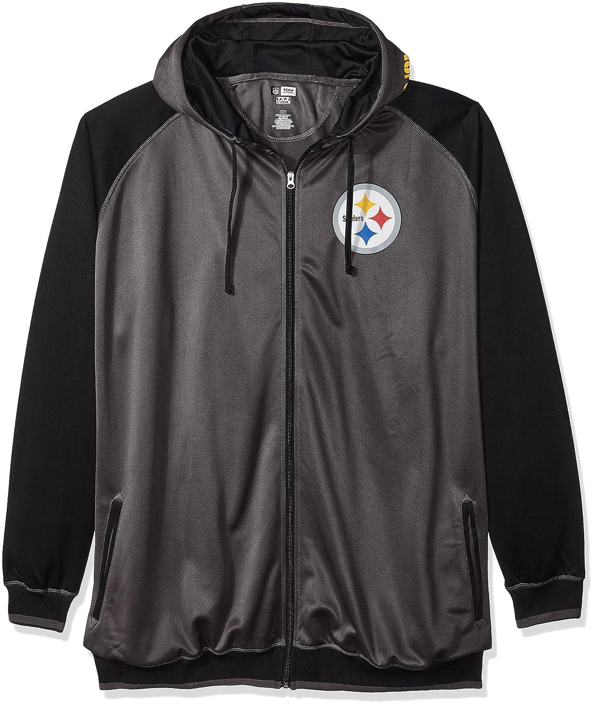 NFL Mens Steelers Full Zip Poly Fleece Raglan