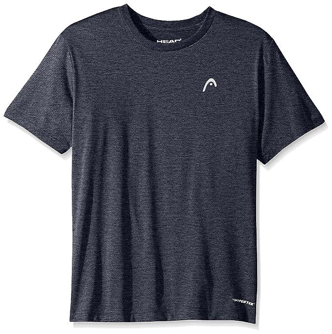 1fd327fa82 HEAD Men's Olympus Striped Hypertek Gym Training & Workout T-Shirt ...