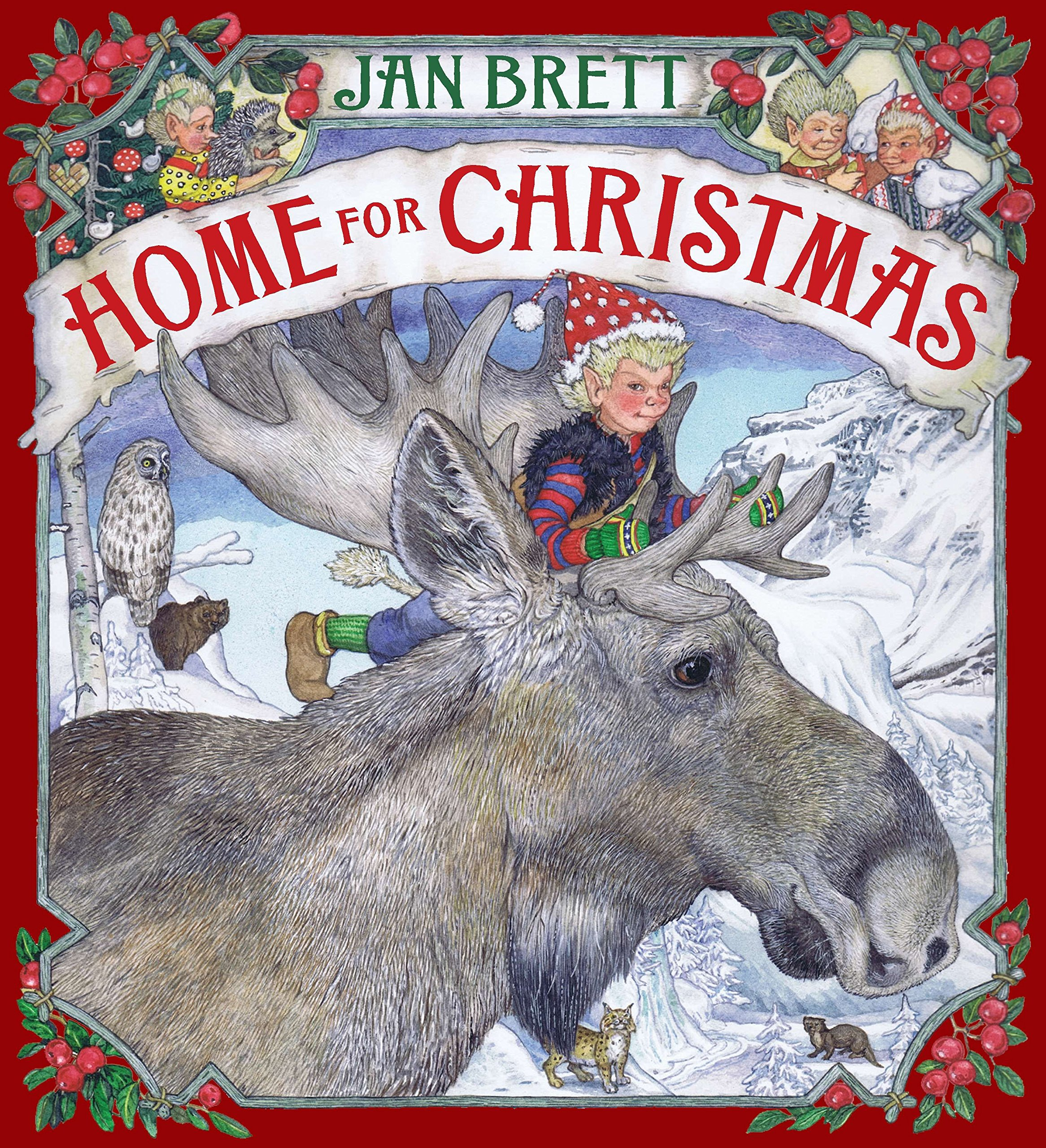A Home For Christmas.Home For Christmas Jan Brett 9780399256530 Amazon Com Books