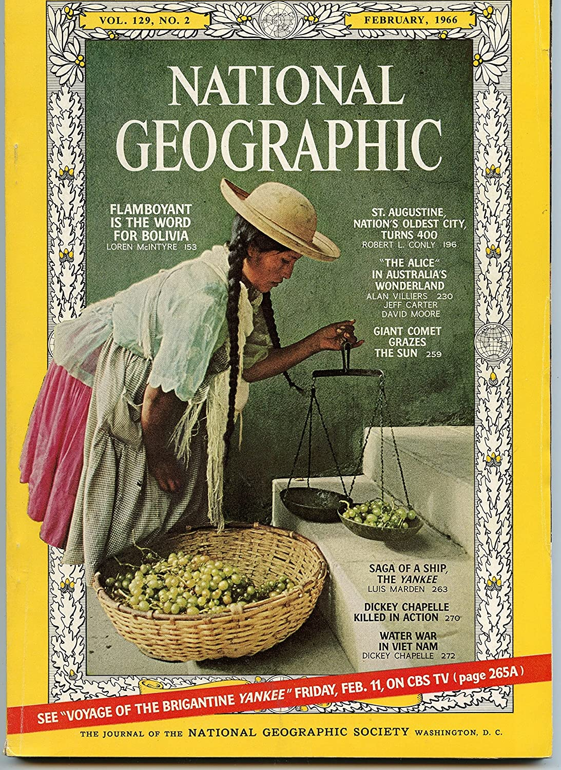 National Geographic - February 1966 - Vol. 129, No. 2 017154 News General Interest