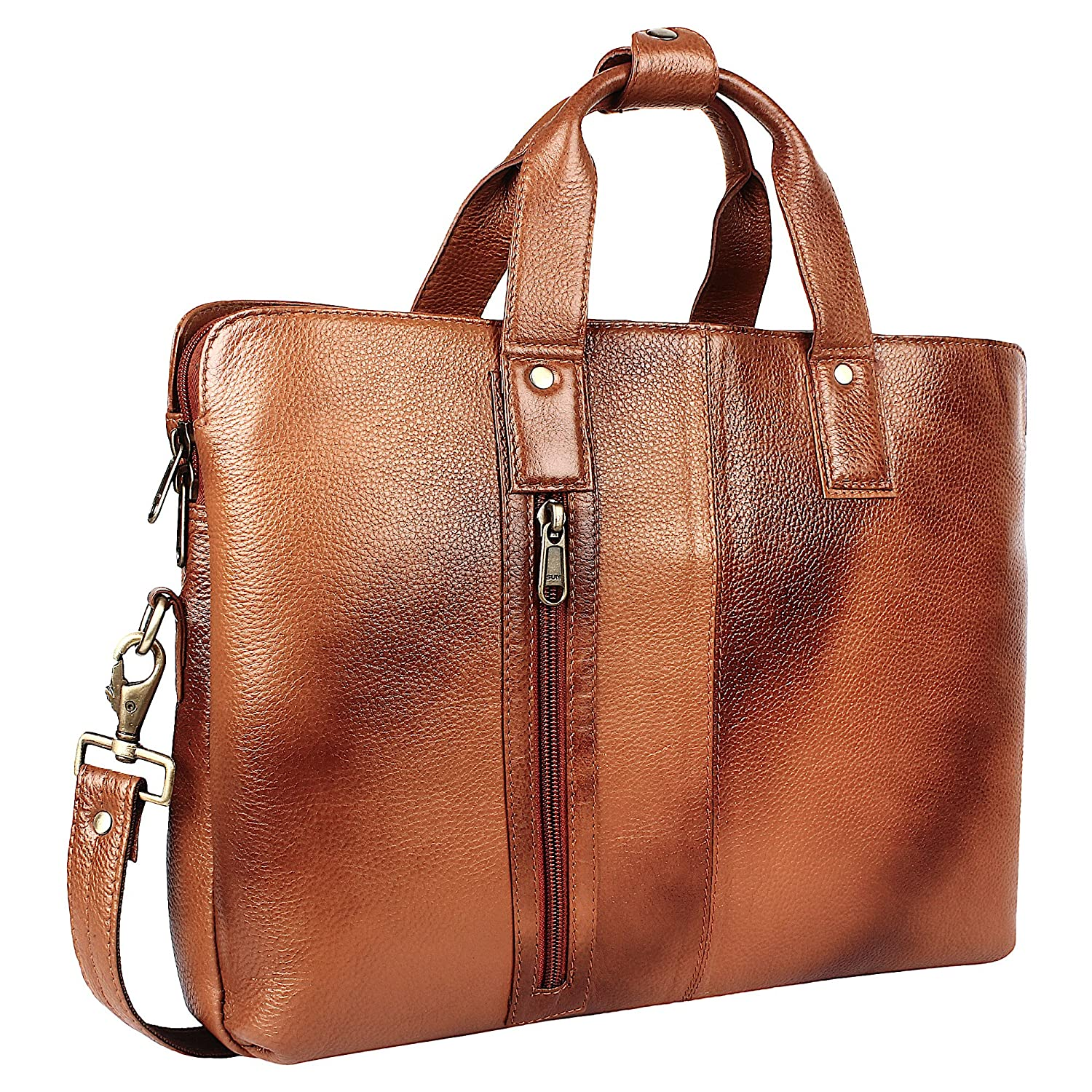 4ec244cfb5edf Genuine Leather High Grade Quality Brown Colour Laptop Messenger Bag for  Office Use - by OMAX  Amazon.in  Bags