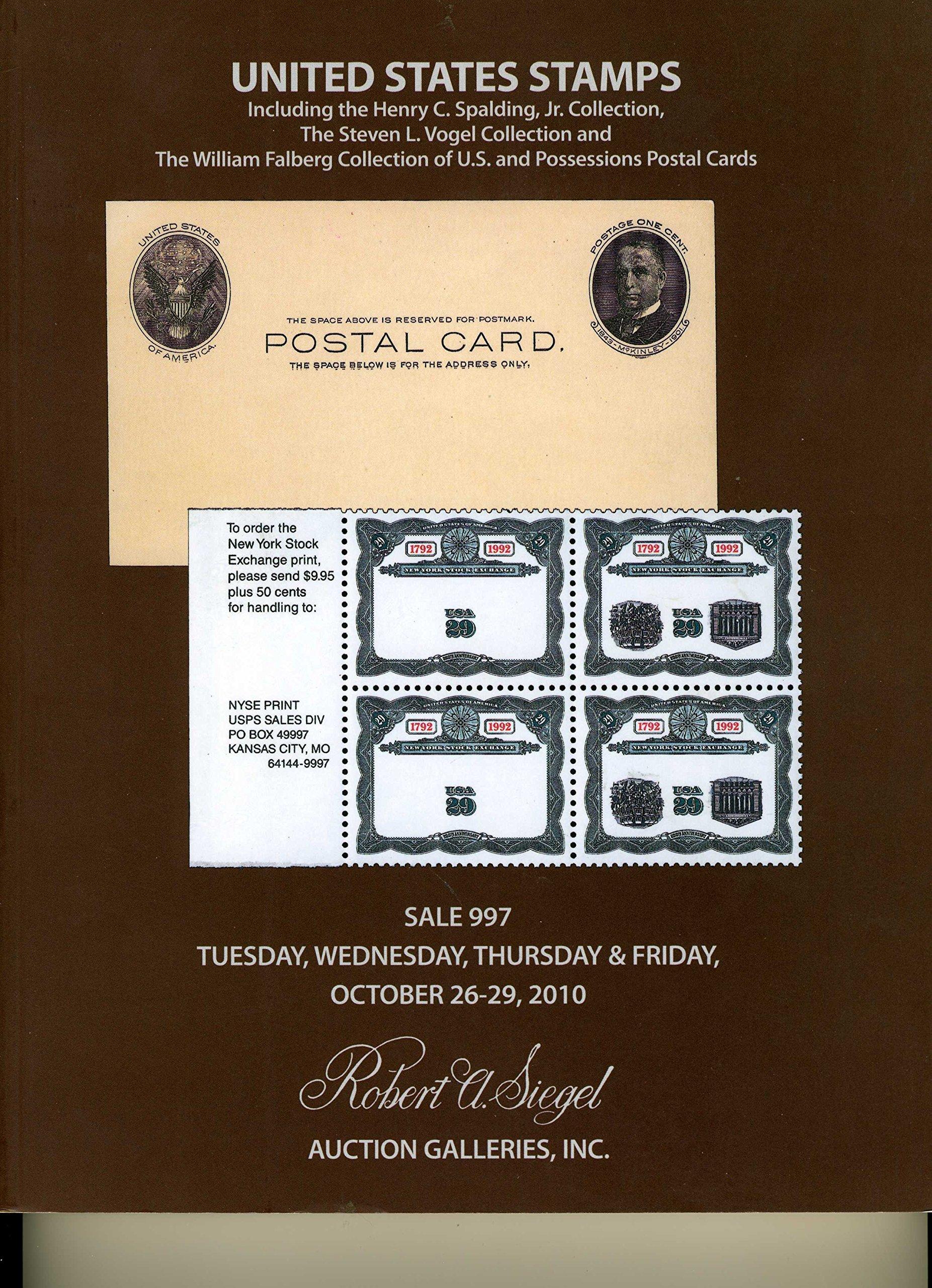 Download United States Stamps including the Henry C. Spalding, Jr. Collection, The Steven L. Vogel Collection and The William Falberg Collection of U.S. and Possessions Postal Cards ebook