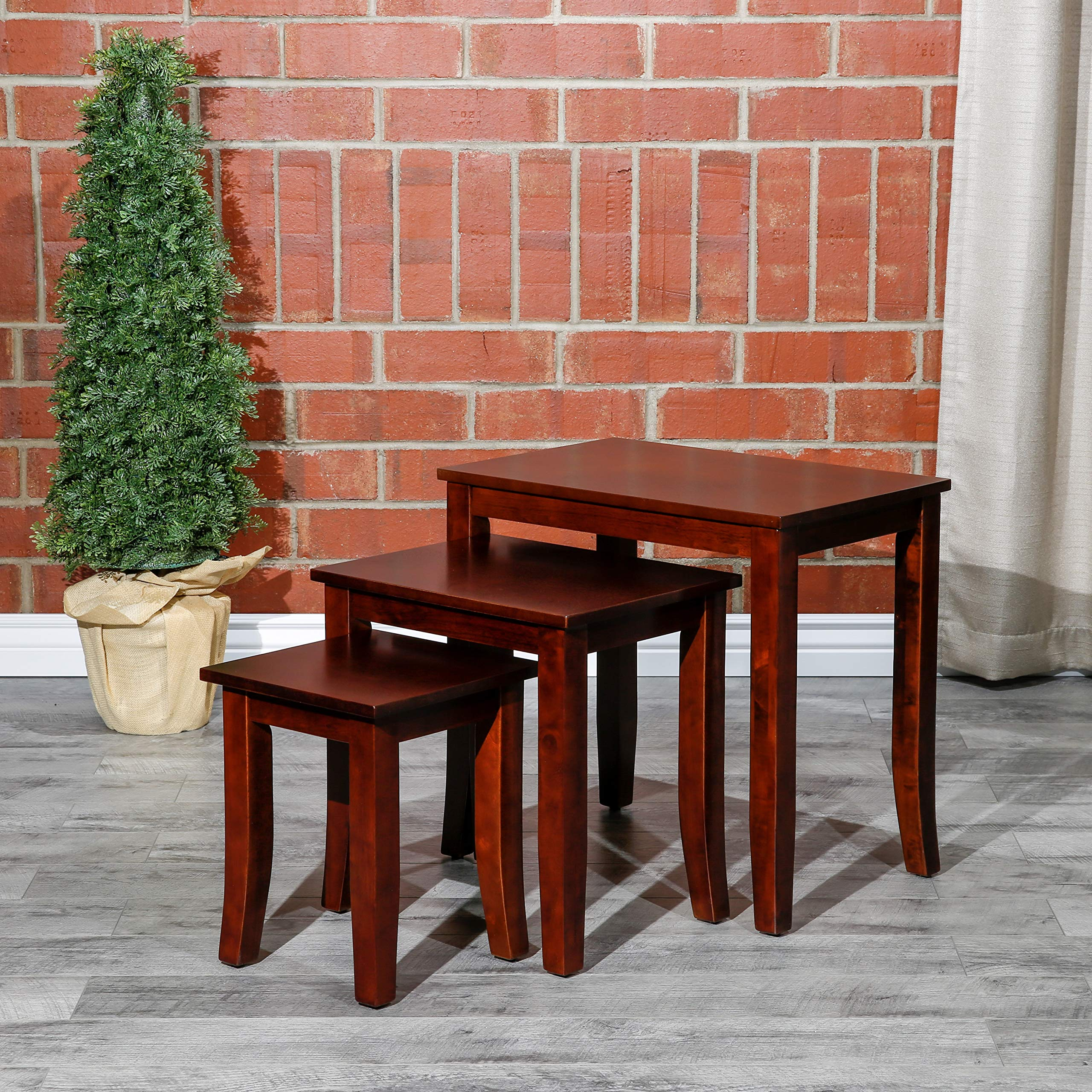 Avon 3-Piece Nesting Tables DTY Indoor Living Furniture Collection - Cherry