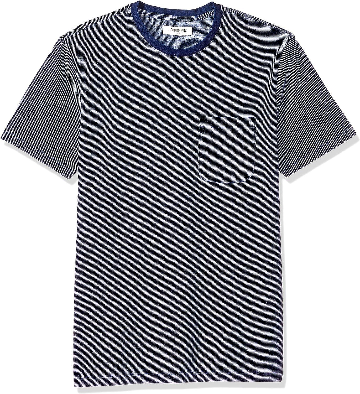 Goodthreads Mens Short-Sleeve Indigo Crewneck Pocket T-Shirt