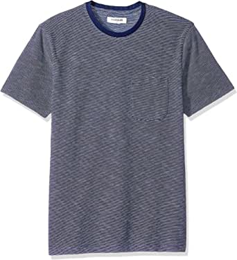 Goodthreads Men's Short-Sleeve Indigo Crewneck Pocket T-Shirt