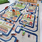 Traffic Blue by IVI 3D Play Rugs, 39x59 Inches