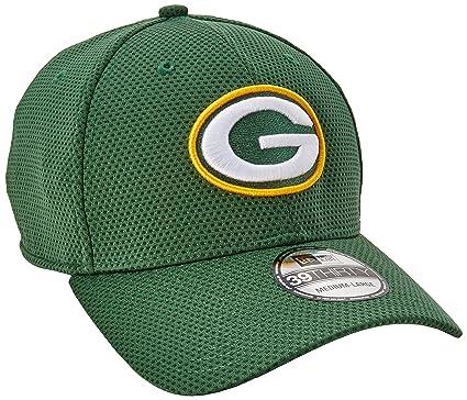 16701510195 Green Bay Packers Green New Era On-Field Sideline Tech 39THIRTY Flex Fit Hat