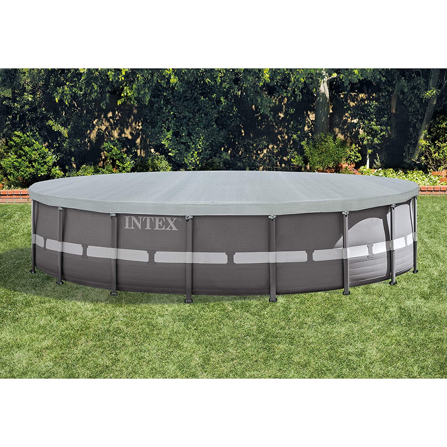 Intex Round Metal Frame Pool Cover Blue 10 ft