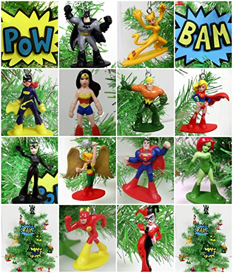 Marvel Christmas Tree Topper.Dc Comic Super Hero 14 Piece Christmas Tree Ornament Set Featuring Iconic Super Hero Characters