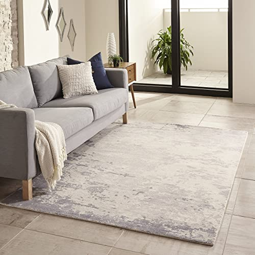 Momeni Rugs Illusions Collection Casual Area Rug, 3 6 x 5 6 , Blue