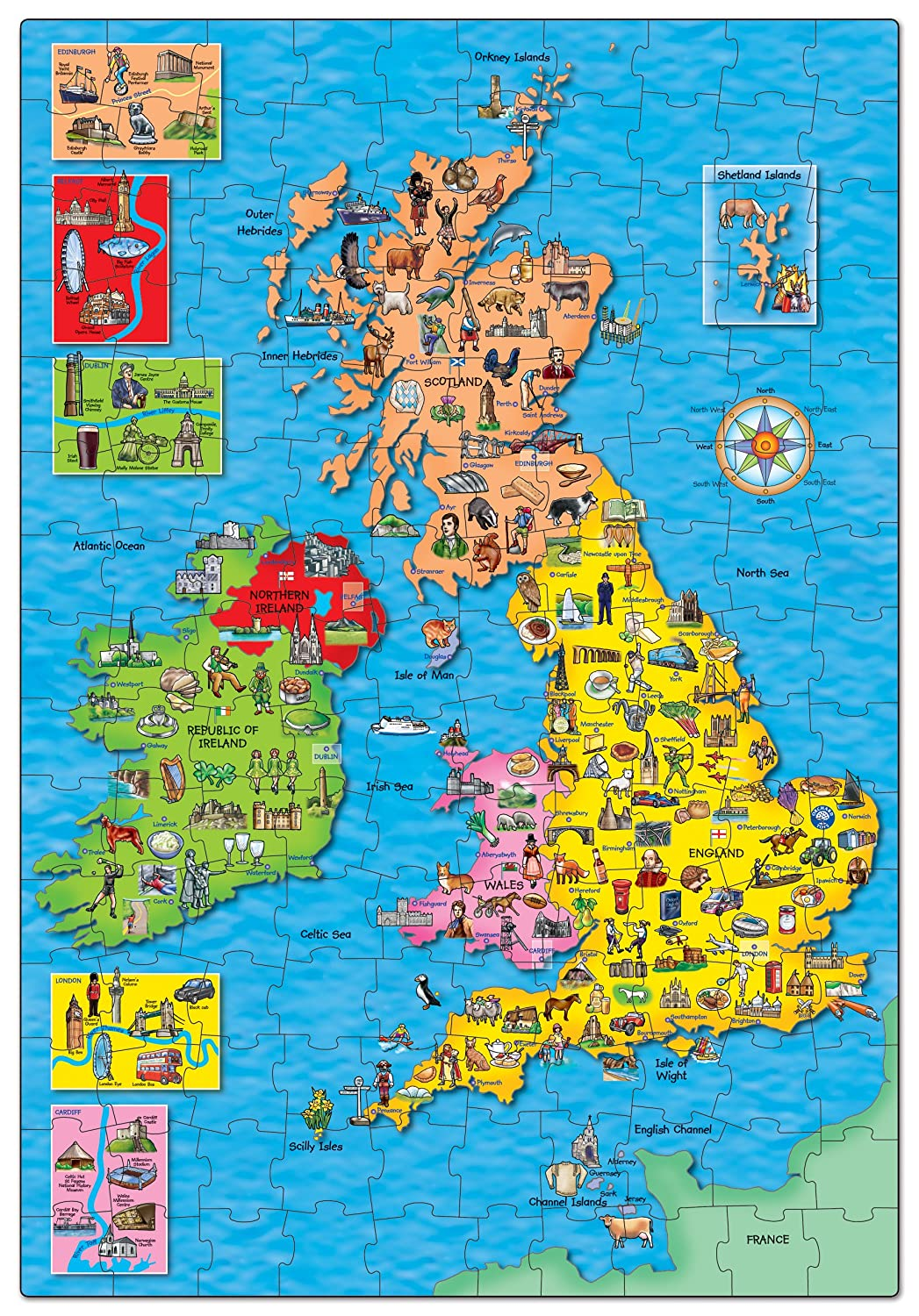 orchard toys great britain  ireland map jigsaw puzzle amazoncouk toys games. orchard toys great britain  ireland map jigsaw puzzle amazonco