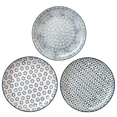 Bloomingville 10'' Dinner Plates Kristina Set of 3 Styles