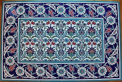 Amazon Altin Cini Turkish Iznik Floral Pattern Ceramic Tile Enchanting Turkish Pattern