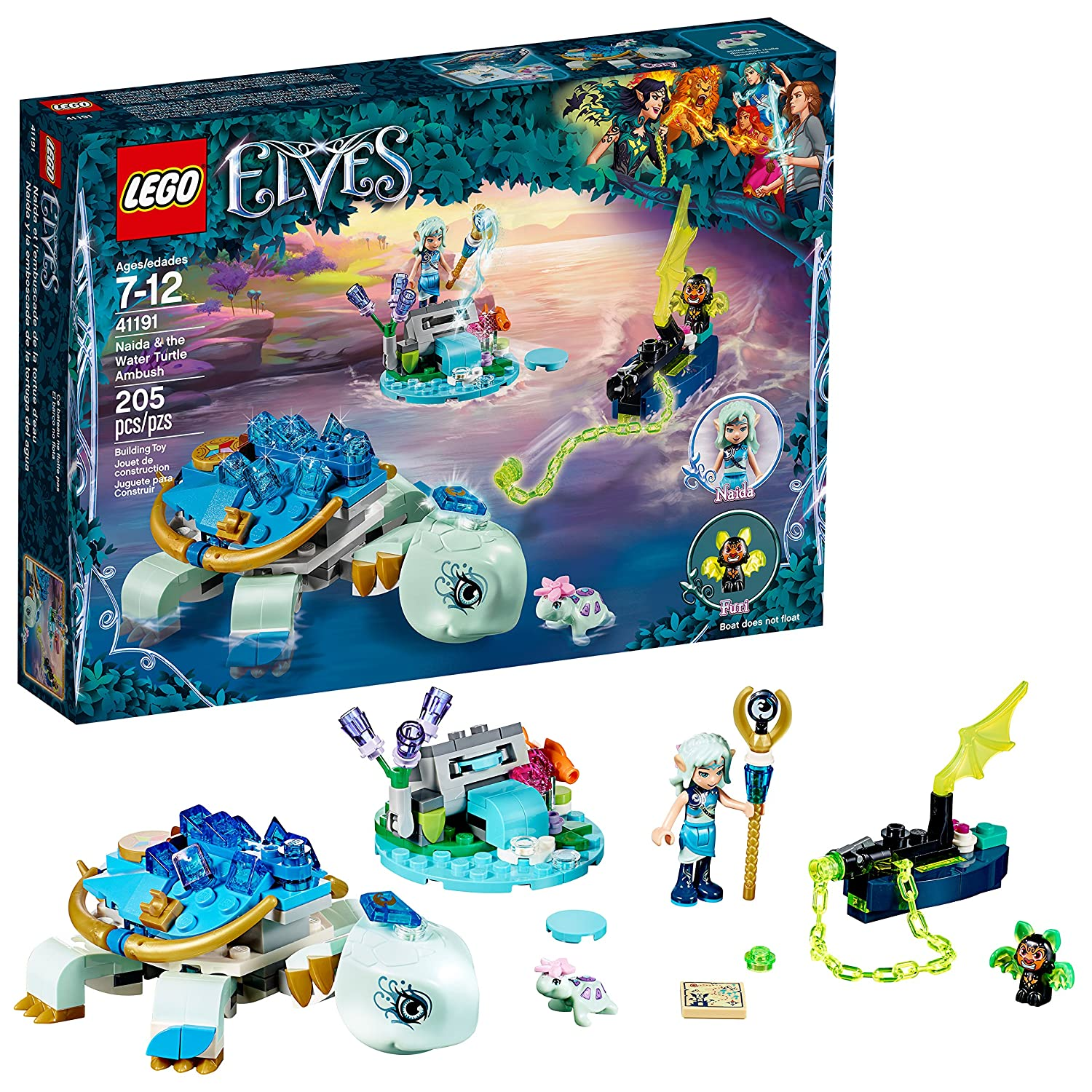 Lego Elves 6212142 Naida & The Water Turtle Ambush 41191 Building Kit (205 Piece)