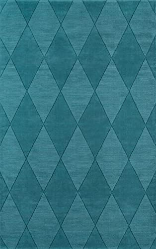 Momeni Rugs Metro Collection Area Rug, 5 x 8 , Teal Blue