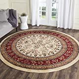 Safavieh Lyndhurst Collection LNH331A Traditional Oriental Ivory and Red Round Area Rug (8' Diameter)