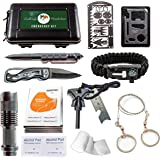 Emergency Survival Kit - Outdoor Tactical Gear and Survival Tools for Everyday Carry, Backpacking, Camping Essentials & Hiking. Emergency Preparedness & Bug Out Gear. With Survival Cards & First Aid.