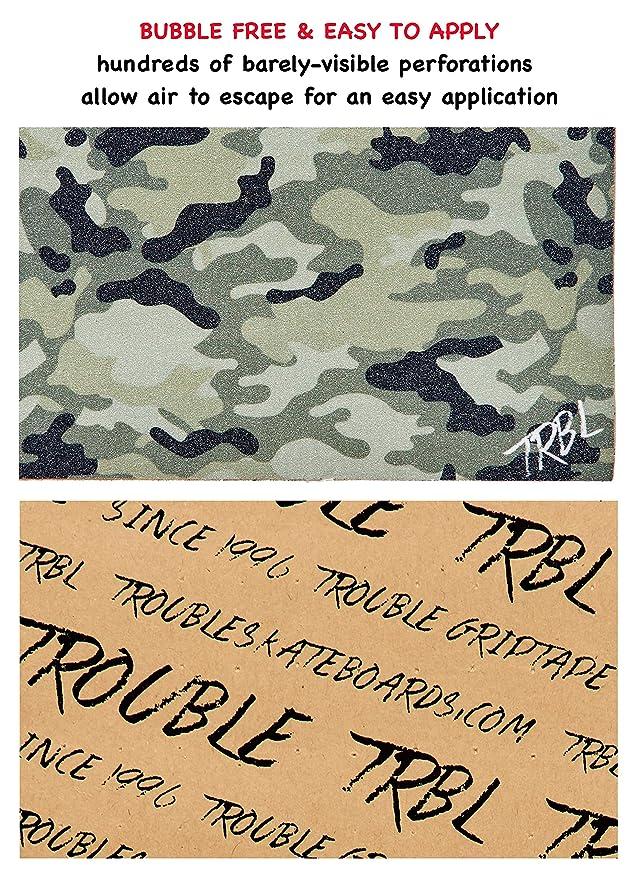 Amazon.com: Trouble - Cinta adhesiva para monopatín, 11.0 x ...