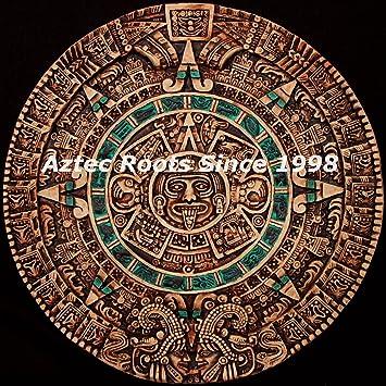 "16.5"" Aztec Maya Mayan Solar Sun Stone Calendar Statue Sculpture Wall Plaque Xiuhpohualli Tonalpohualli Mesoamerican"