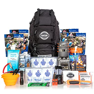 Premium Emergency Survival Bag/Kit – Be Equipped with 72 Hours of Disaster Preparedness Supplies for 2 People