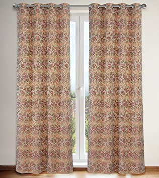 Lj Rideaux Motif Floral Home Fashions Marli Bague Top Rideau A