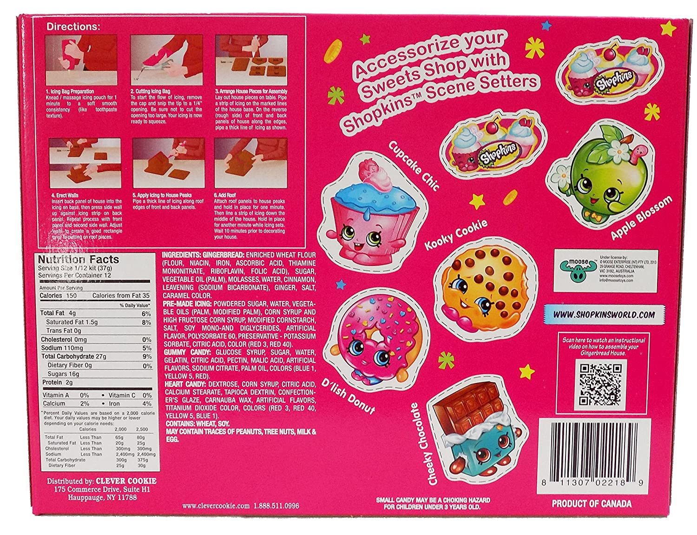 amazon com shopkins sweets shop gingerbread house decorating kit
